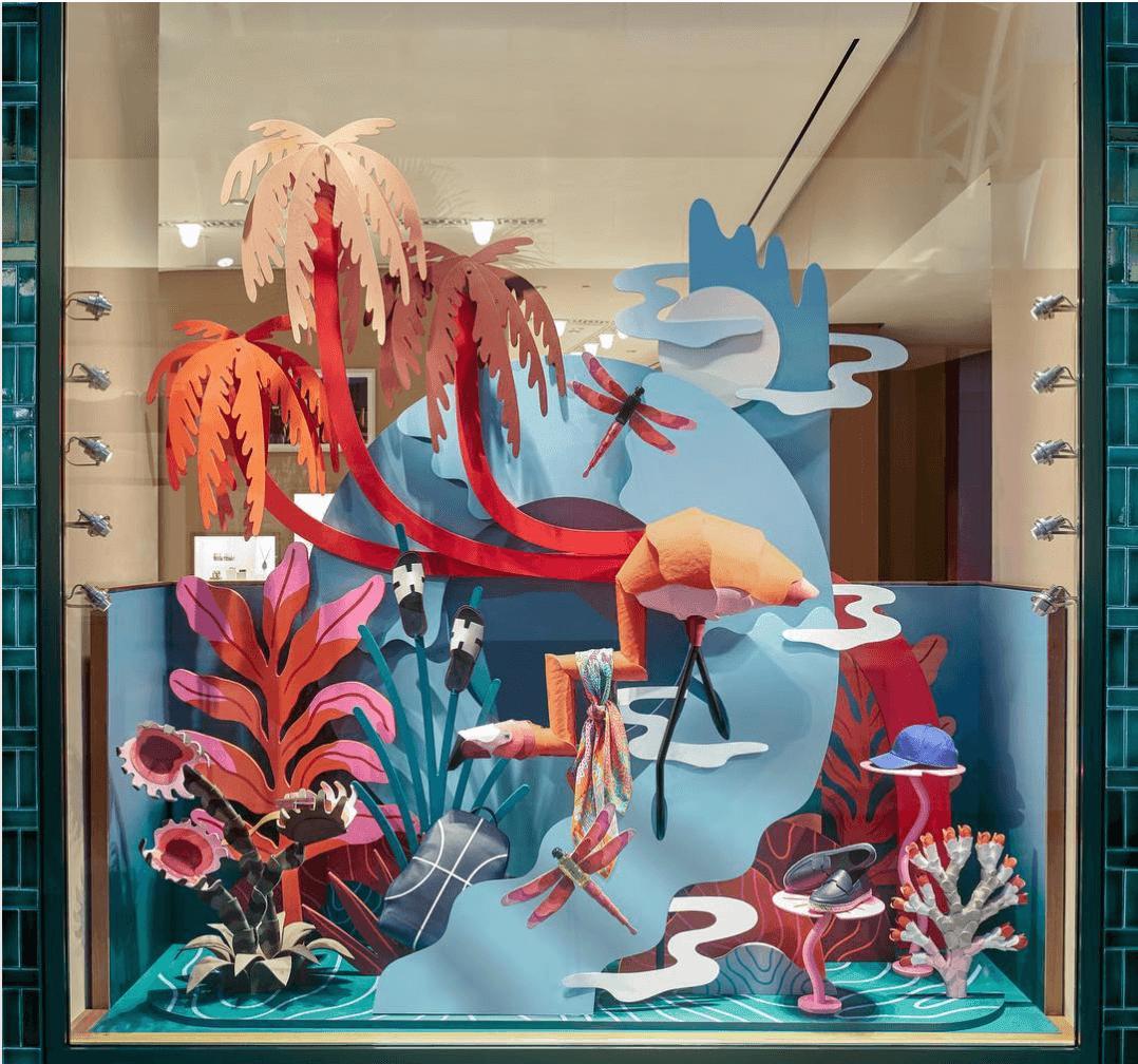 windows display - hoa trang trí cửa hàng