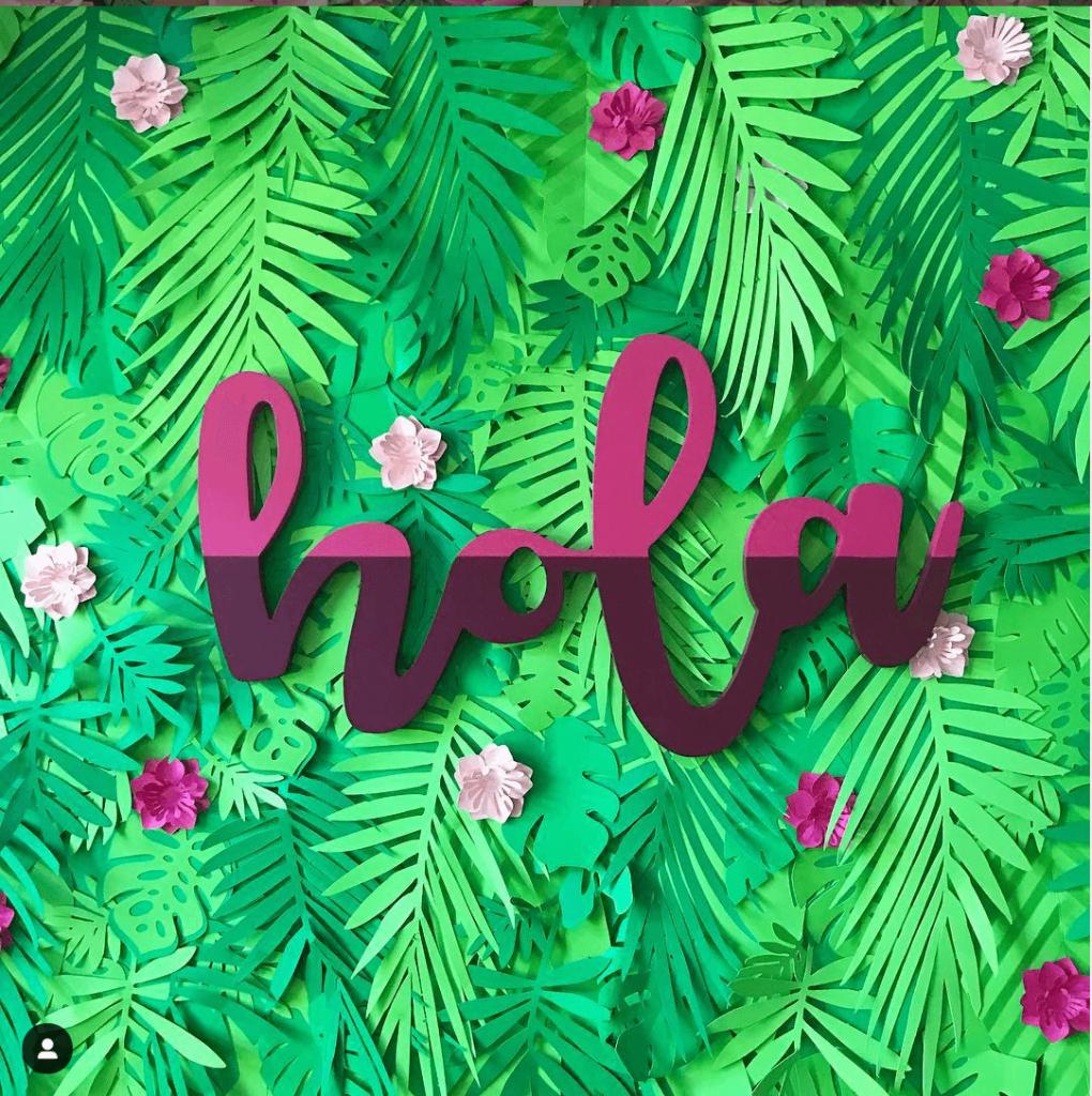 backdrop hoa giấy