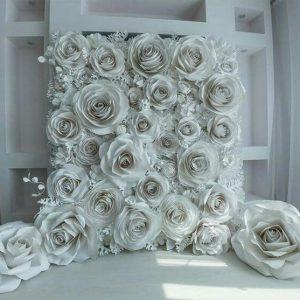 backdrop hoa giấy backdrop cưới