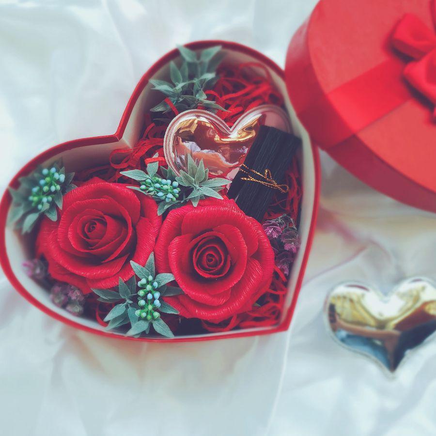 Hộp hoa handmade