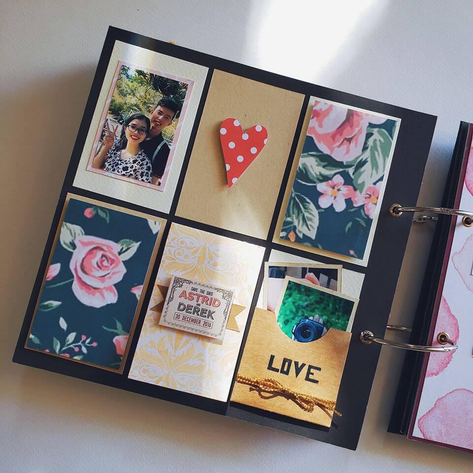 scrapbook handmade tông đen